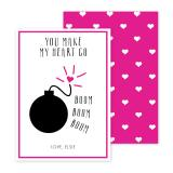 Boom Personalized Valentines Day Cards