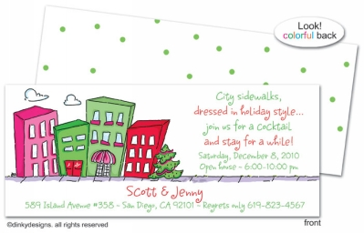 Urban living - holiday invitations, announcements or holiday greeting cards, personalized