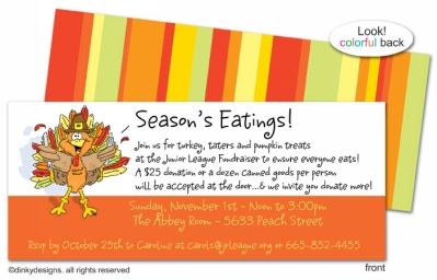 Thomas Turkey invitations, announcements or holiday greeting cards, personalized