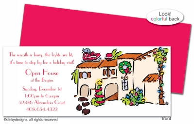 Mi casa Christmas invitations, announcements or holiday greeting cards, personalized