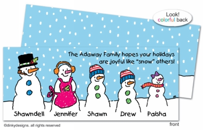 There's Snow Family like your Family invitations, announcements or holiday greeting cards, personalized