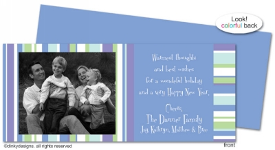 Winter line invitations, announcements or holiday greeting cards, personalized with digitally printed photos