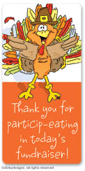 Thomas Turkey calling card stickers, gift tags or shipping labels, personalized