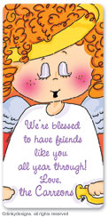 Addie Angel calling card stickers, gift tags or shipping labels, personalized