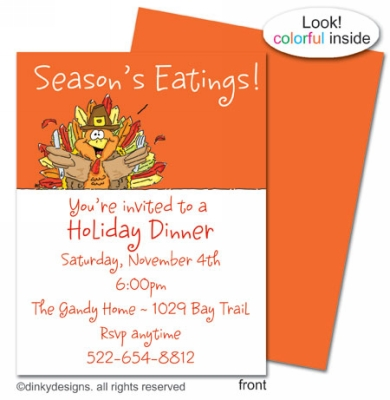 Thomas Turkey flat notes, invitations or announcements, personalized