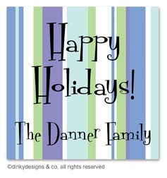 Winter line gift tags or insert cards, personalized
