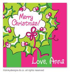 Rosie posie wreath gift tags or insert cards, personalized