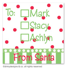 Christmas candy gift tags or insert cards, personalized