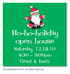 Ho-ho-holiday gift tags or insert cards, personalized