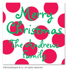 Cranberry holiday dots gift tags or insert cards, personalized