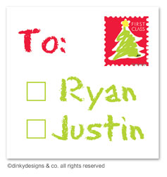 Letter to Santa gift tags or insert cards, personalized