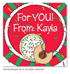 Christmas cookies gift tags or insert cards, personalized