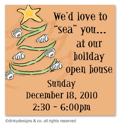 Christmas is a beach gift tags or insert cards, personalized