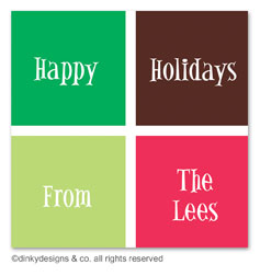 Holiday boxes gift tags or insert cards, personalized