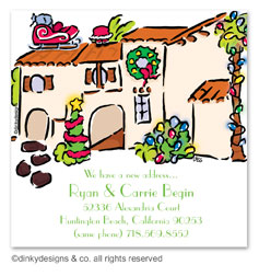 Mi casa Christmas gift tags or insert cards, personalized