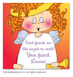 Addie Angel gift tags or insert cards, personalized