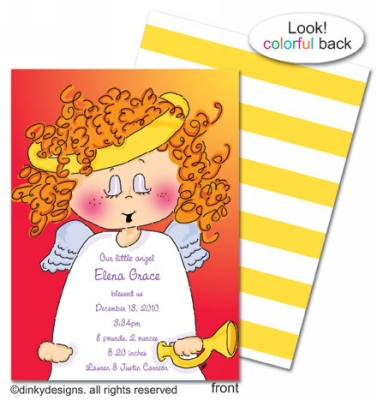 Addie Angel invitations, announcements or holiday greeting cards, personalized