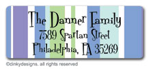 Winter line return address labels, personalized