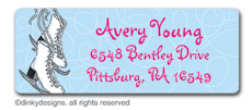 Figure 8 skates return address labels, personalized