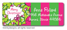 Rosie posie wreath return address labels, personalized