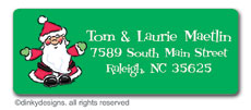 Ho-ho-holiday return address labels, personalized