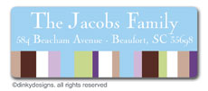Cocoa sage dots return address labels, personalized