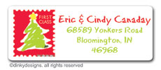 Letter to Santa return address labels, personalized