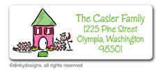 From our home to yours return address labels, personalized