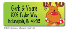 Bruce Reindeer return address labels, personalized