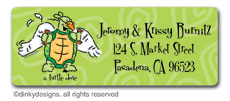 Two turtle doves return address labels, personalized