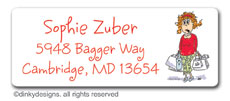 Holi-daze return address labels, personalized