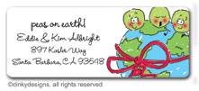 Peas on earth return address labels, personalized