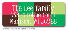 Holiday boxes return address labels, personalized