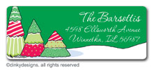 Christmas tree row return address labels, personalized