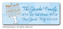 Menorah return address labels, personalized