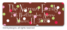 Pink berry holly return address labels, personalized by Dinky Designs