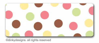 November polka dots return address labels, personalized