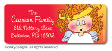 Addie Angel return address labels, personalized