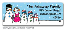There's Snow Family like your Family return address labels, personalized