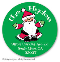 Ho-ho-holiday large round stickers or labels 2.5