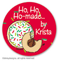 Christmas cookies large round stickers or labels 2.5