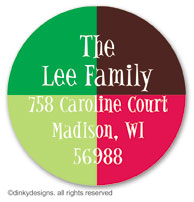 Holiday boxes large round stickers or labels 2.5