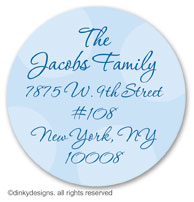 Menorah large round stickers or labels 2.5