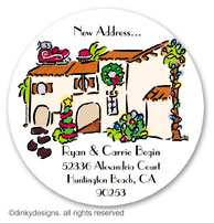 Mi casa Christmas large round stickers or labels 2.5