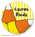 Candy corns small round stickersor labels 1.6'', personalized