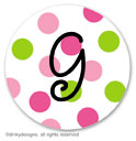 Preppy dots small round stickersor labels 1.6'', personalized