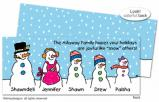 Theres Snow Family like your Family invitations, announcements or holiday greeting cards, personalized  by Dinky Designs