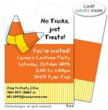 Candy corns flat notes, invitations or announcements, personalized by Dinky Designs
