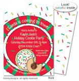 Christmas cookies flat notes, invitations or announcements, personalized by Dinky Designs