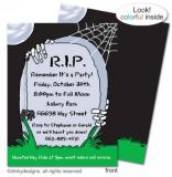 R.I.P. Remember its a Party flat notes, invitations or announcements, personalized by Dinky Designs